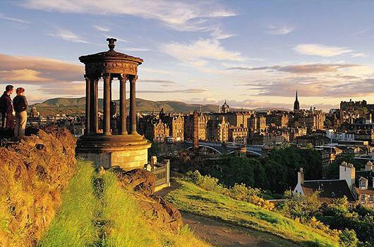 Расположение эдинбург шотландия